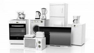 appliances on white background
